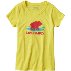 Patagonia Girls Graphic Cotton/Poly T-Shirt Blazing Yellow